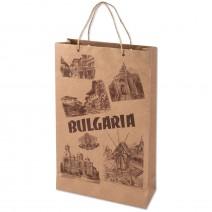 Kraft gift bag with handle 12 x 7 cm
