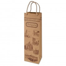 Gift bag for Kraft bottle with handle 38 x 11 cm