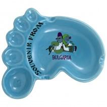 Ceramic souvenir ashtray foot - Funny folklore - 3 colours