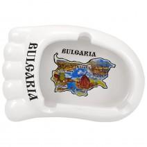 Ceramic souvenir ashtray foot - collage Northern and Southern Black Sea coast