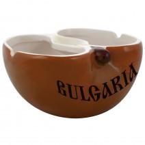 Ceramic souvenir ashtray apple - Funny folklore in 3 colours