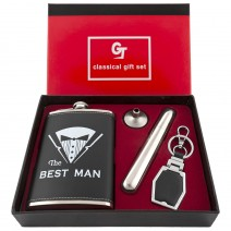 Gift Set - Bottle with cigar tube and keychain