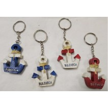 Souvenir keychain small ancor  in 4 colours with BG