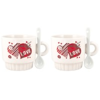 Ceramic souvenir cups - set of 2 pieces