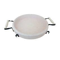 Deep ceramic plate for baking 28 cm with metal stand