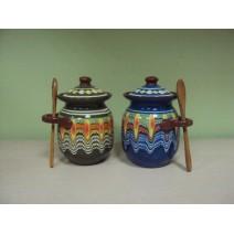 Domestic ceramic jar with Trojan pattern - medium