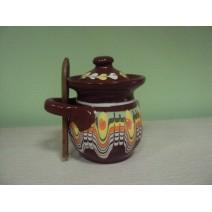 Domestic ceramic jar with Trojan pattern - small
