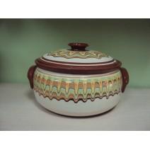 Covered pot traditional bulgarian ceramic 6,0 l.