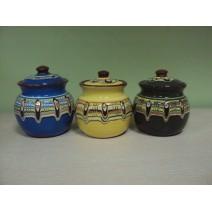 Sugar covered pot traditional ceramic big size