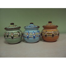 Sugar covered pot traditional ceramic