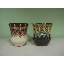 Wine ceramic cup with Trojan pattern