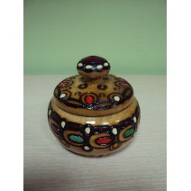 Wooden covered salt@pepper - small one with pyrography