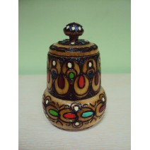 Wooden covered salt@pepper 2 floors with pyrography
